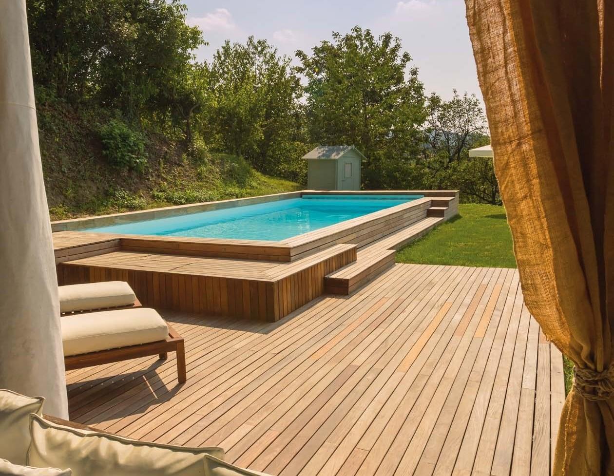 Rivestimento In Legno Per Piscine Fuori Terra : Terrazza per piscine archivi sys piscinesys piscine