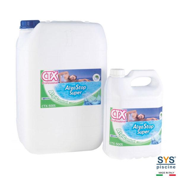 SYS Piscine antialghe piscina ctx 500s algastop super liquido 5 lt
