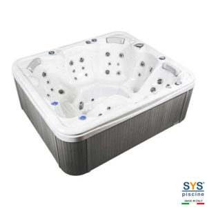 SYS Piscine minipiscine spa a sfioro idormassaggio piscine 3 536L 5 posti