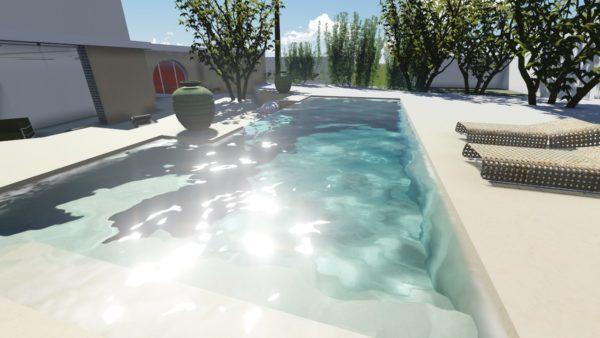 SYS Piscine piscina parete in cristallo