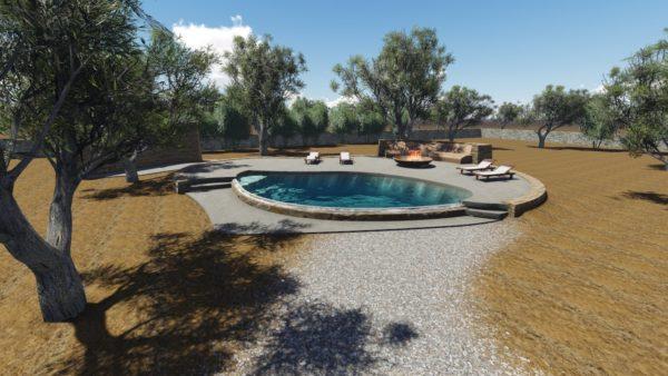 SYS Piscine progetto piscina area agricola