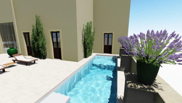 SYS Piscine progetto piscina su terrazzo