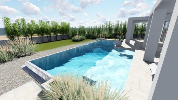 SYS Piscine progetto piscina vista mare leuca