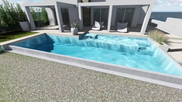 SYS Piscine progetto piscina vista mare ugento